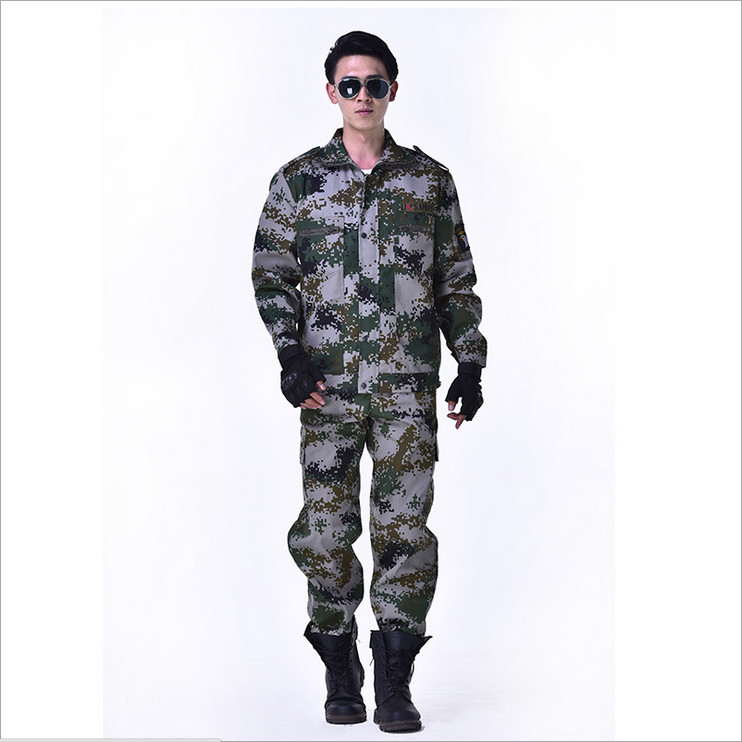₪2018 Outdoor Python Pattern Camouflage Suits Military Fans Male ...