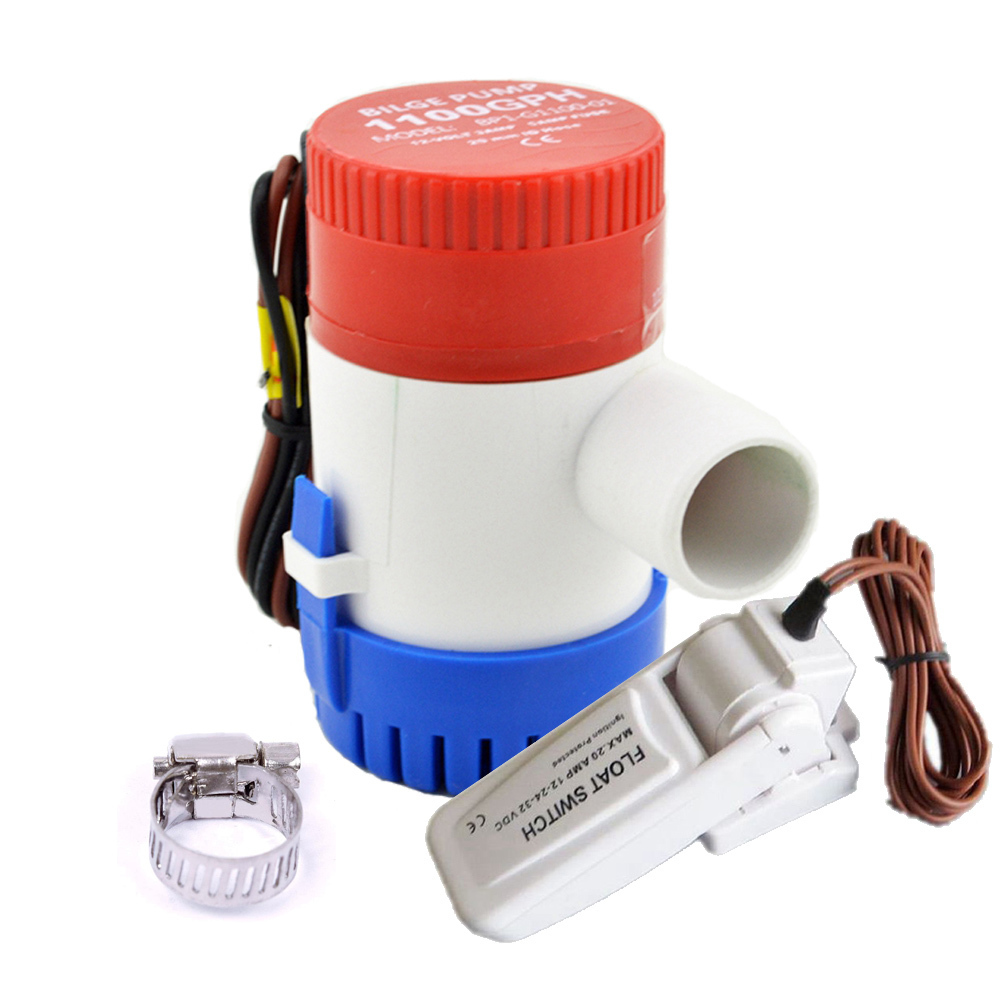 12V/24V  Submersible Water Pump For Marine Boat Yachts Car 1100GPH With Float Switch12V/24V  Submersible Water Pump For Marine Boat Yachts Car 1100GPH With Float Switch