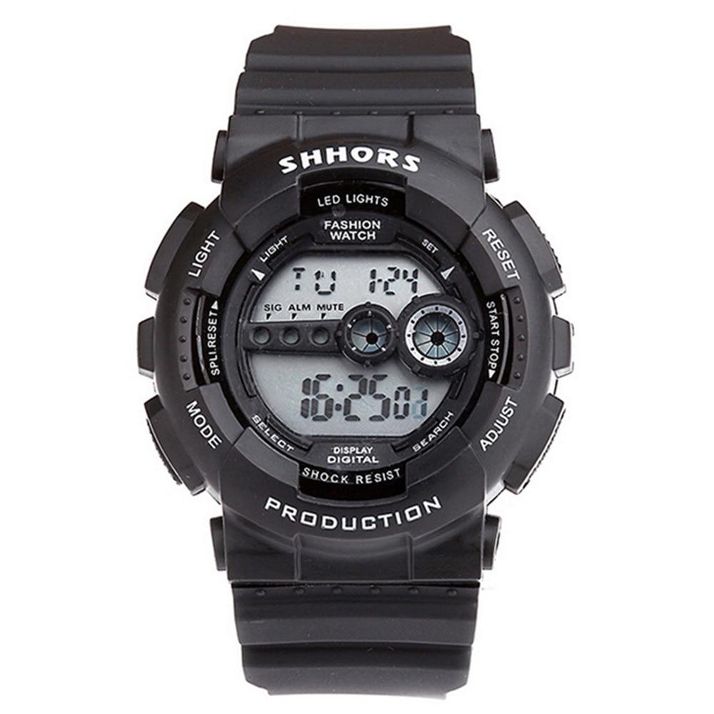 Man Watch 2019 SHHORS Watch Fashion Led Digital Watches Men Silicone Band Electronic Watch Men Sports Watches Orologio Uomo