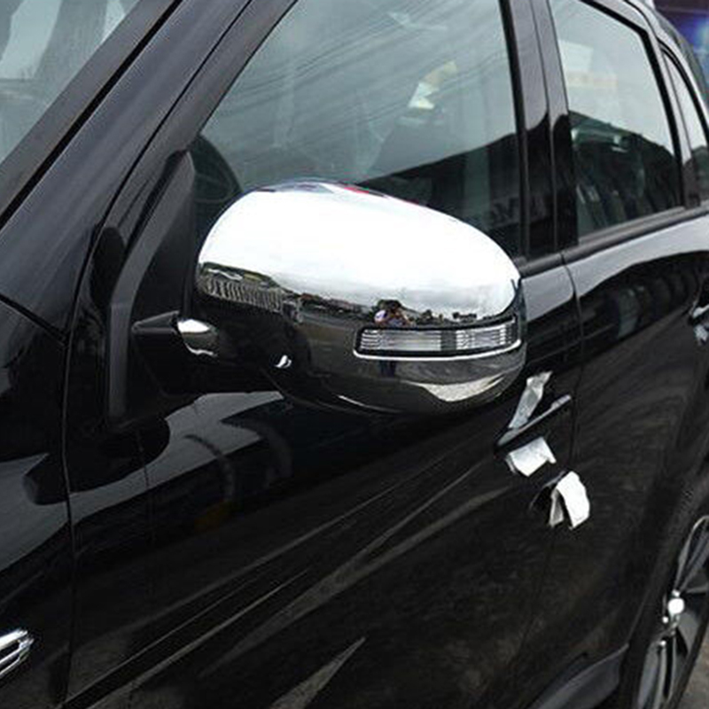 Car Rearview Mirror Cover Trim 1 Pair Chrome Decoration For Mitsubishi ASX 2016 2019 New Useful in Mirror Covers from Automobiles Motorcycles