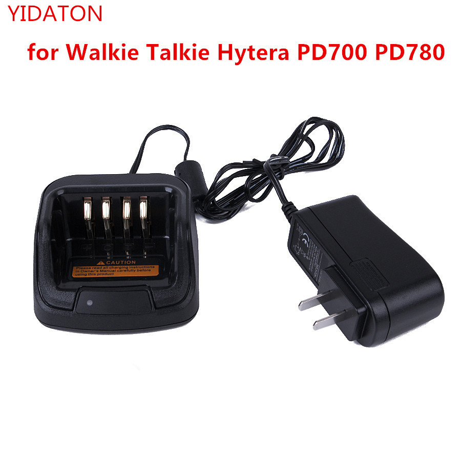 Battery Charger for Hytera two way Radio PD780 GPD660/PD680/PD700 Ham Radio Hf Transceiver Desk Socket Battery Charger Black