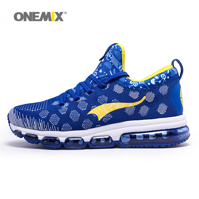 ФОТО ONEMIX 1196 Newest Men Wave Prophecy Trainers Elastic Sneakers Outdoor Running Shoes for Women Snowflake Sport Shoe EU 35-46