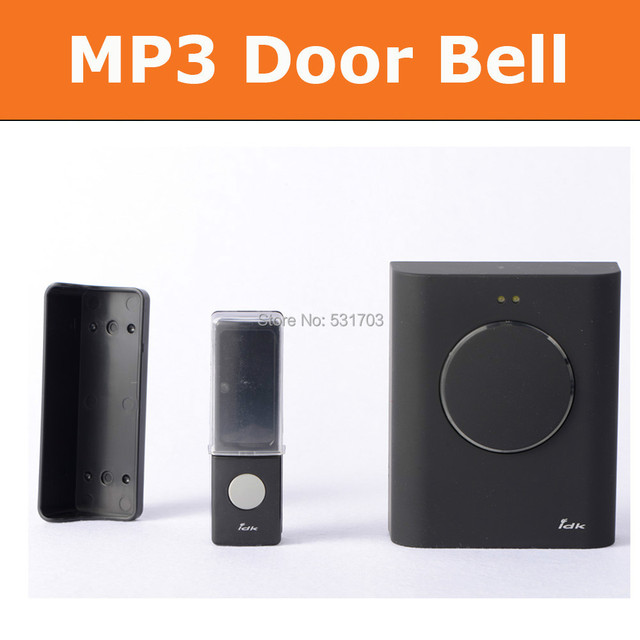 433mhz 200m Wireless DoorBell Cordless MP3 Door Bell Chimes Waterproof  Doorbell Button Doorbells