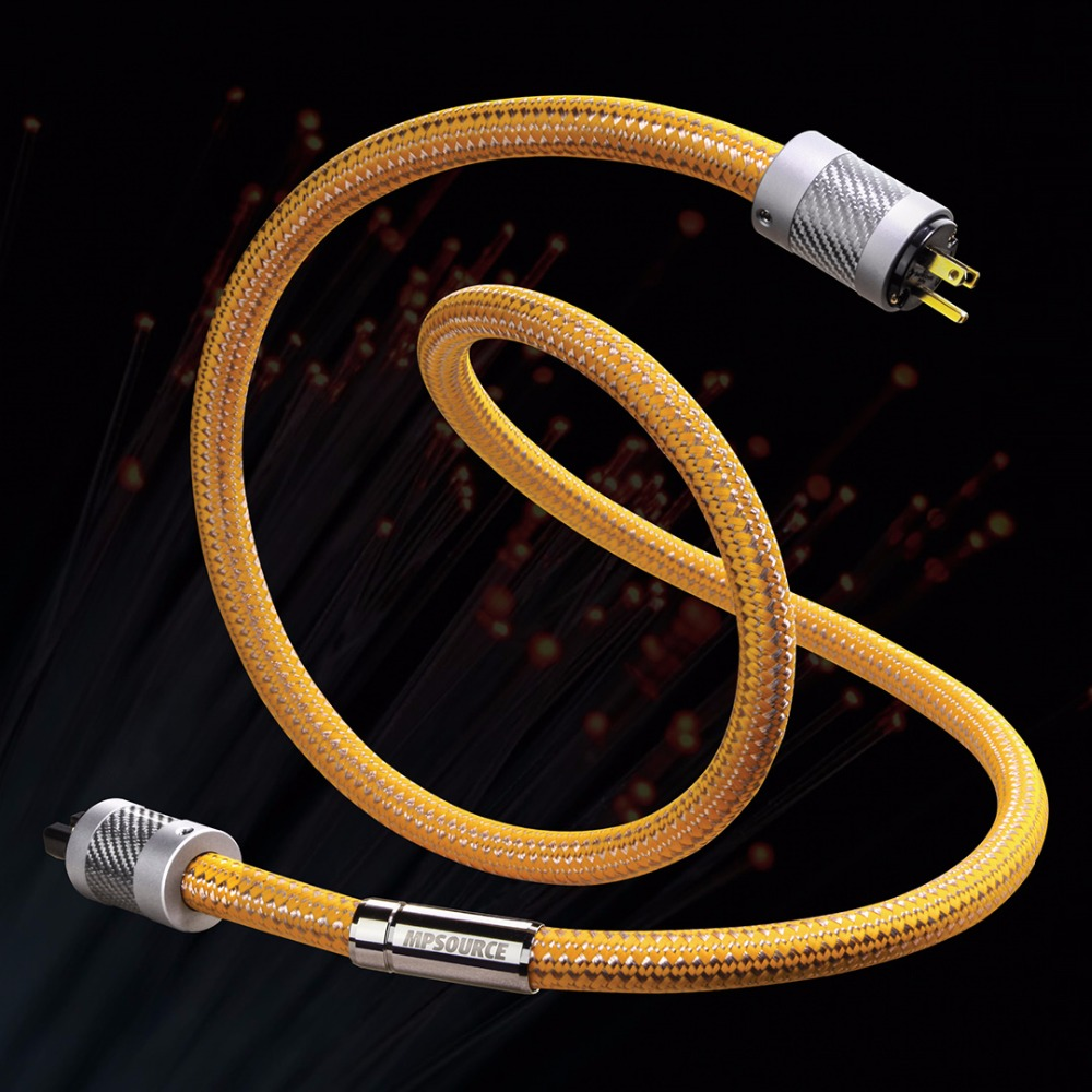 MPSource Poison AC Power Cord Cable 99.99997% OCC HiFi Speaker Audio Cables 24K Gold Plated Hi-End For Amplifier CD DVD hifi mps m 6mk2 99 99997% occ speaker wire speaker audio cable power ac cable for hifi amplifier cd dvd