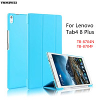 YNMIWEI Tablet Case For Lenovo TAB4 8 Plus Shockproof Tri Fold Stand Smart Cover For Lenovo