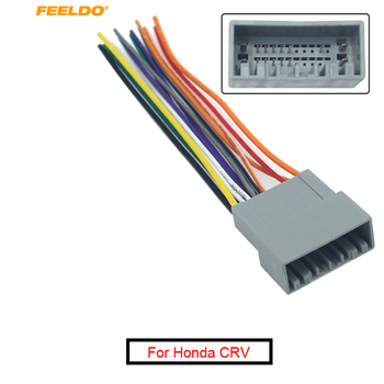FEELDO 1PC Car Stereo CD/DVD Player Wiring Harness Adapter For Honda CRV Greiz Gienia Envix Radio Installation Cable #AM6130 image