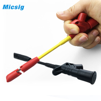 1 Pair Quick Piercing Test insulated Quick Piercing Needle Hook Clip Multimeter Testing Probes 4mm Socket Test Probe Spring Load