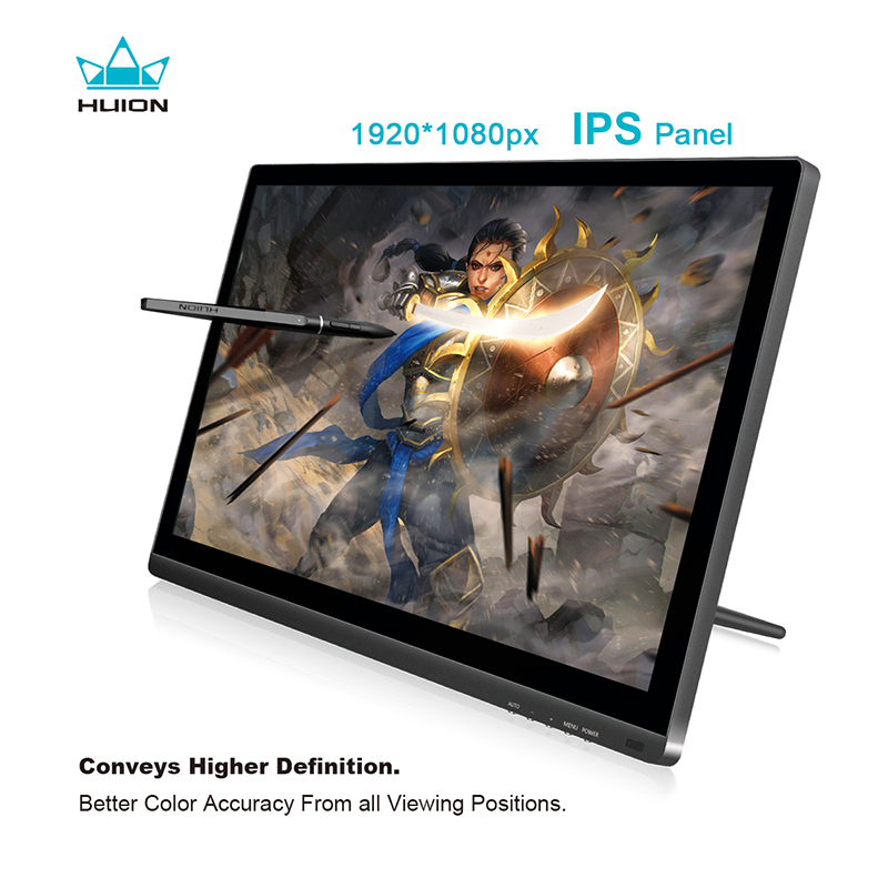 Huion GT-191 IPS Pen Display Monitor 8192 Levels Art Graphics Drawing Pen Tablet Monitor with Gifts xp pen artist22e fhd ips pen display monitor graphics drawing tablet with 16 express keys