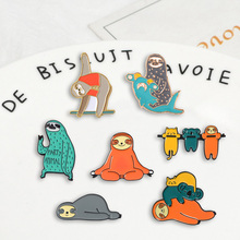 Broches de insignias de la serie de animales divertidos broches de la solapa del esmalte del dril de mezclilla del Flash regalos para los fans amigos joyería al por mayor