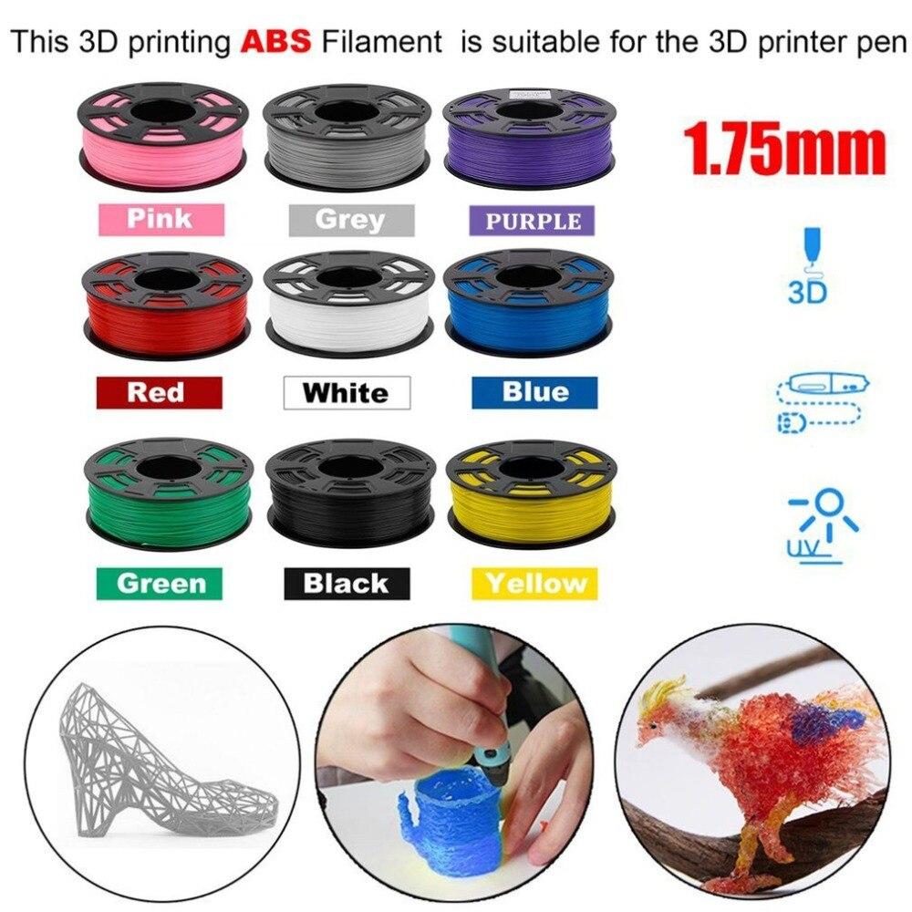 Un Rouleau 420 m 1 kg 1.75mm ABS Filament 3D Imprimante Matériel D'impression Fournitures Impression Filament Pour 3D Impression stylo 3D Imprimante