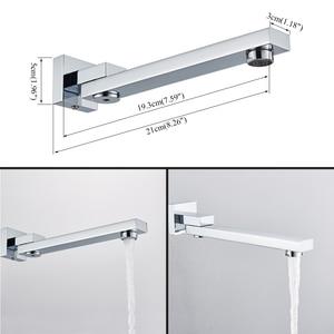 Image 5 - Uythner ensemble de robinets mitigeurs de douche à montage mural, système encastré effet cascade, pour salle de bains, baignoire chromé