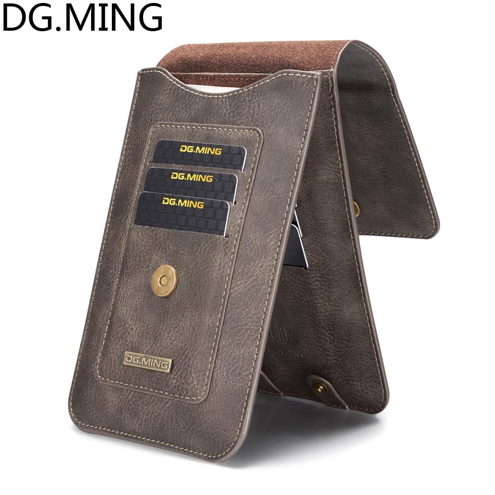 DG. MING Universel Moins que 6.5 ''Sport En Plein Air Suspendus Taille Téléphone Sacs pour iPhone XS XR X 10 7 8 plus 8 plus Housse En Cuir