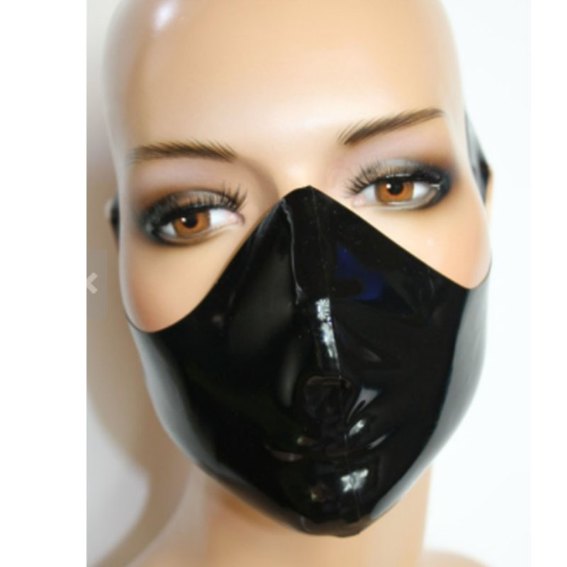 100% Latex breathplay Hood Mask Halloween hood Rubber mask for party