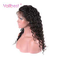 Vallbest Brazilian Deep Wave Lace Front Human Hair Wigs Non Remy 10 24 Inch 130 Density