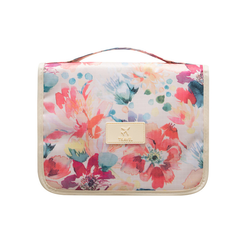 Leaves Hanging Cosmetic Toiletry Bags Travel Organizer Beautician Necessary Functional Makeup Wash Pouch Accessories Supplies