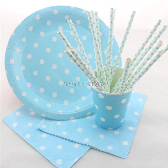 112pcs/lot Blue Party Tableware Set Paper Plates Paper Cups Paper Napkins for Party Wedding & 112pcs/lot Blue Party Tableware Set Paper Plates Paper Cups Paper ...