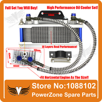 Dirt Monkey Pit Bike ATV Motorcycle Oil Cooler Radiator Cooling Parts 50cc 70cc 90cc 110cc Free