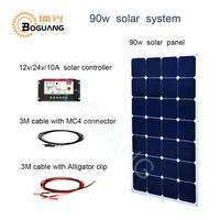 Boguang 90w aluminum solar panel DIY kit system cell module 12v/24v 10A controller cable MC4 connector for battery power