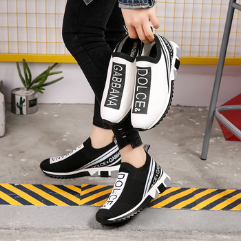 New Women Sneakers 2019 Spring Slip-on Mesh Breathable Casual Shoes Comfortable Walking White Sneakers sneakers
