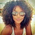 Afro Encaracolados Perucas Sintéticas para As Mulheres Negras Marrom Escuro Longo Encaracolado Perucas Kinky Curly Peruca Sintética Resistente Ao Calor