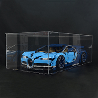 lego display case box for lego technic prosche 42056 Bugatti Chiron 42083 building block model decool 3368 20001 20086