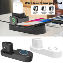 4 in 1 Wireless Fast Qi Charger Charging Pad Station for Apple Watch iPhone X/8/8Plus Airpods EU/US/UK Plug