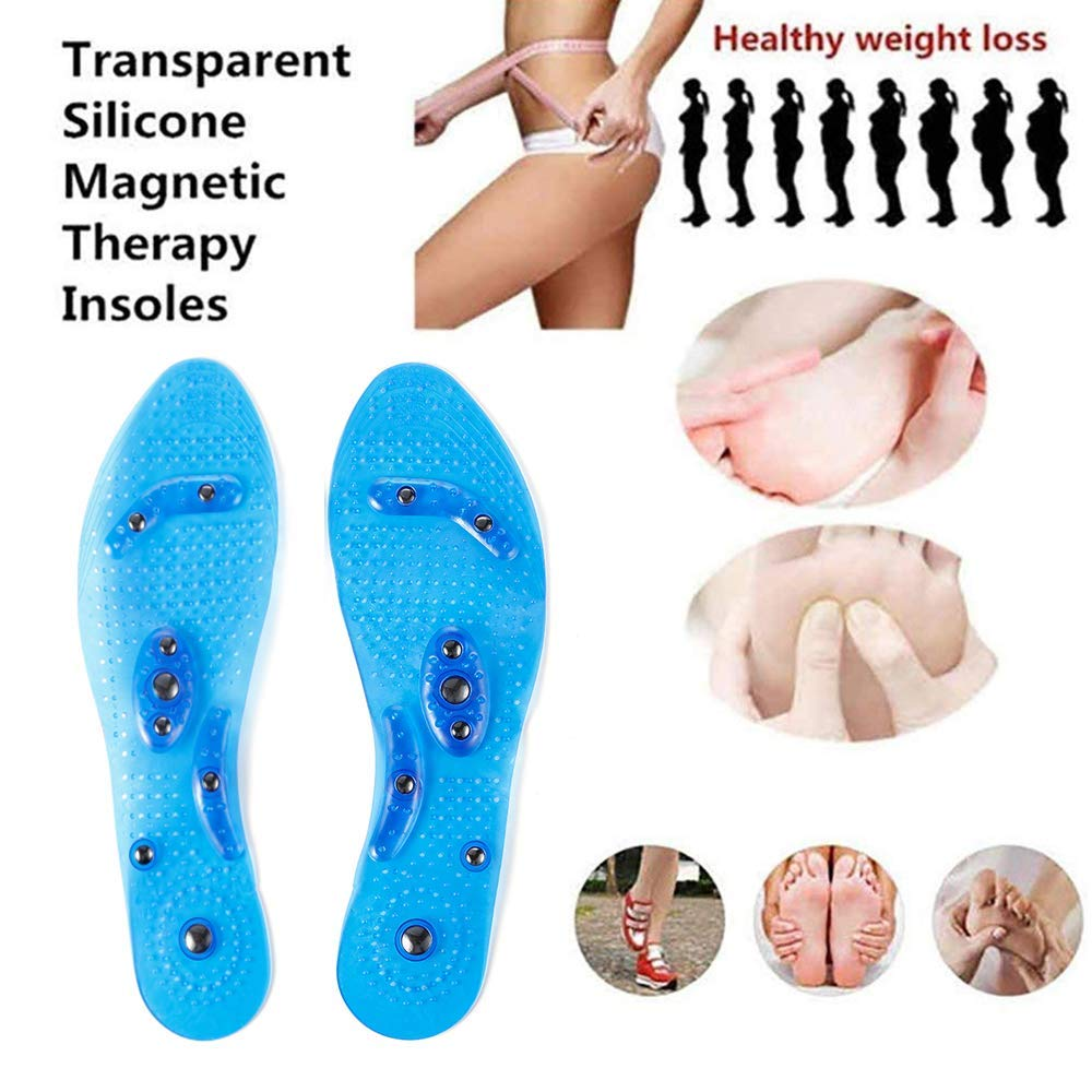 Acupressure Magnetic Inserts for Men and Women Massage Foot Therapy Reflexology Pain Relief Helps Burn Fat Cutable Fits Washable