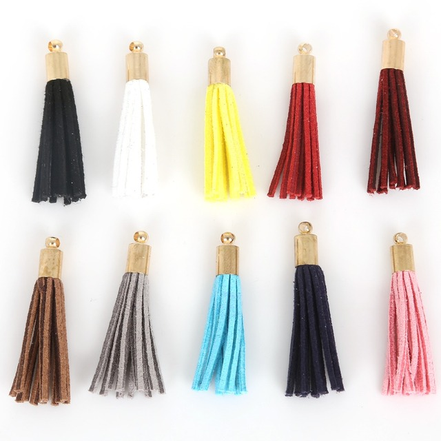 10Pcs Suede Tassel For Hanging Curtain Phone Craft Handmade Pendant Earring Necklace Keychain DIY Jewelry Decoration Accessories