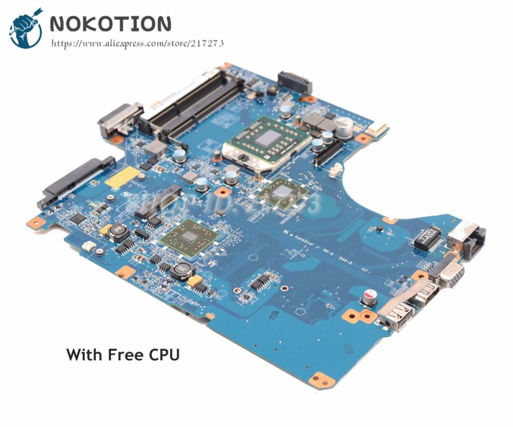 NOKOTION For Sony VAIO VPCEE Series System Laptop Motherboard DA0NE7MB6D0 A1784741A MAIN BOARD DDR3 Free CPU nokotion a1876092a da0hk6mb6g0 mbx 268 main board for sony vaio sve14 laptop motherboard ddr3 hd7600m video card