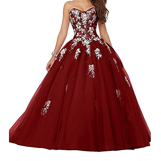 2019 New Elegant Women's Sleeveless Ball Grown Prom Dress  Sweet 16 Evening Dress Vestidos De Gala