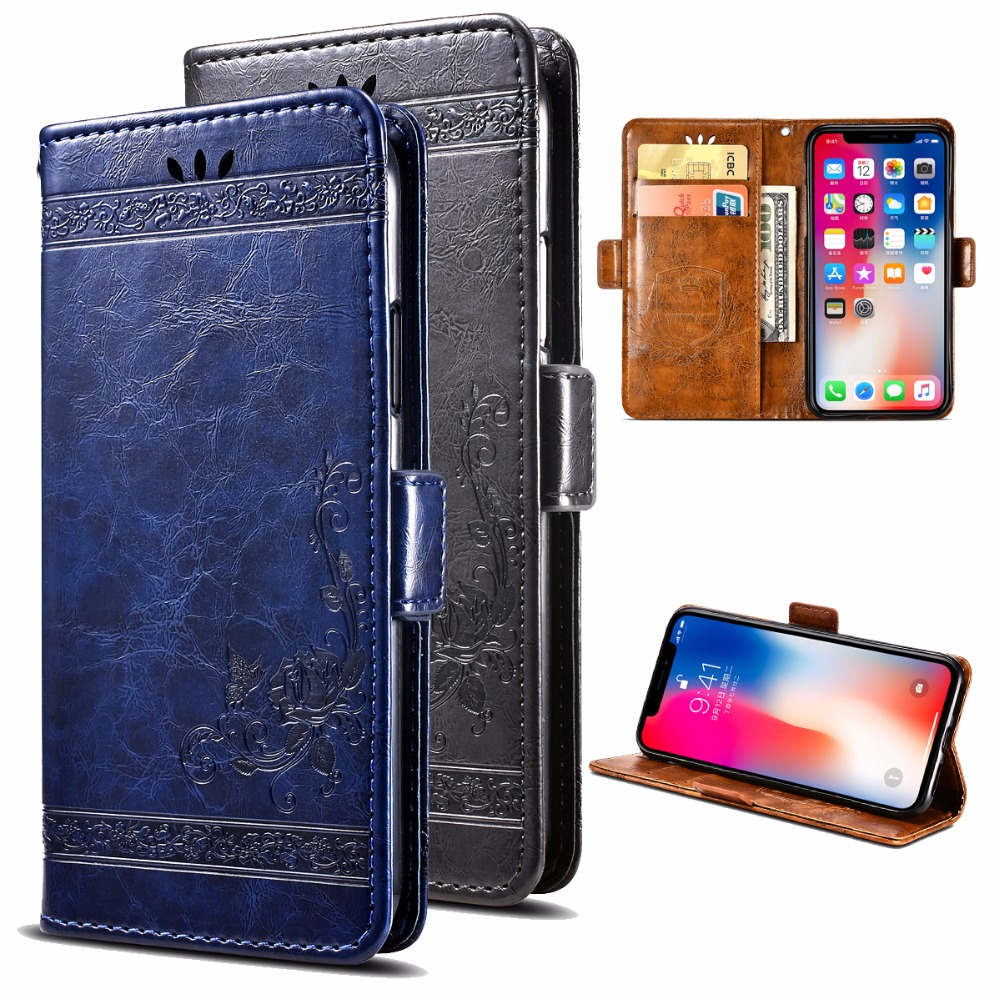 For Vivo Y83 PU Leather Flip Cover Protectiv Phone Case with Card Slot Cash Clip Magnetic Closu for Vivo Y83