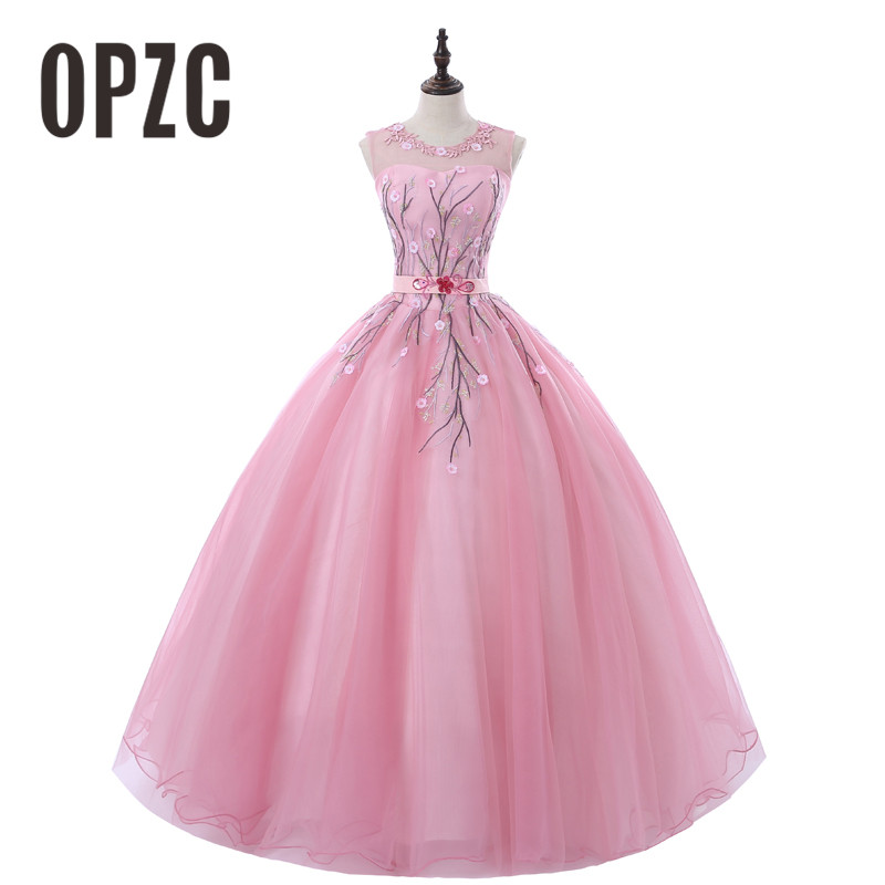 2018 Sweet And Fresh Evening Dress Backless Sleeveless Ball Gown Romantic Flowers Fashion Elegant Performance Party Design