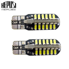 2 Pieces Canbus T10 48 SMD 3014 LED Auto Car Light W5W led 194 Error Free White/Warm White Bulbs 12V