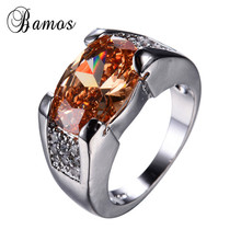 Bamos Gorgeous Big Oval Multicolor AAA Zircon Wedding Births