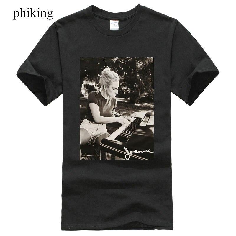 Lady Gaga Joanne Piano Photo Men T-Shirt Cotton Short Sleeve Black Mens Funny T Shirt New Fashion Mens Short Sleeve