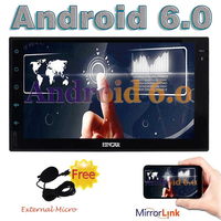 EinCar Android 6 0 Car Audio Wifi 7 In Dash 2 Din GPS Navigation Player Stereo
