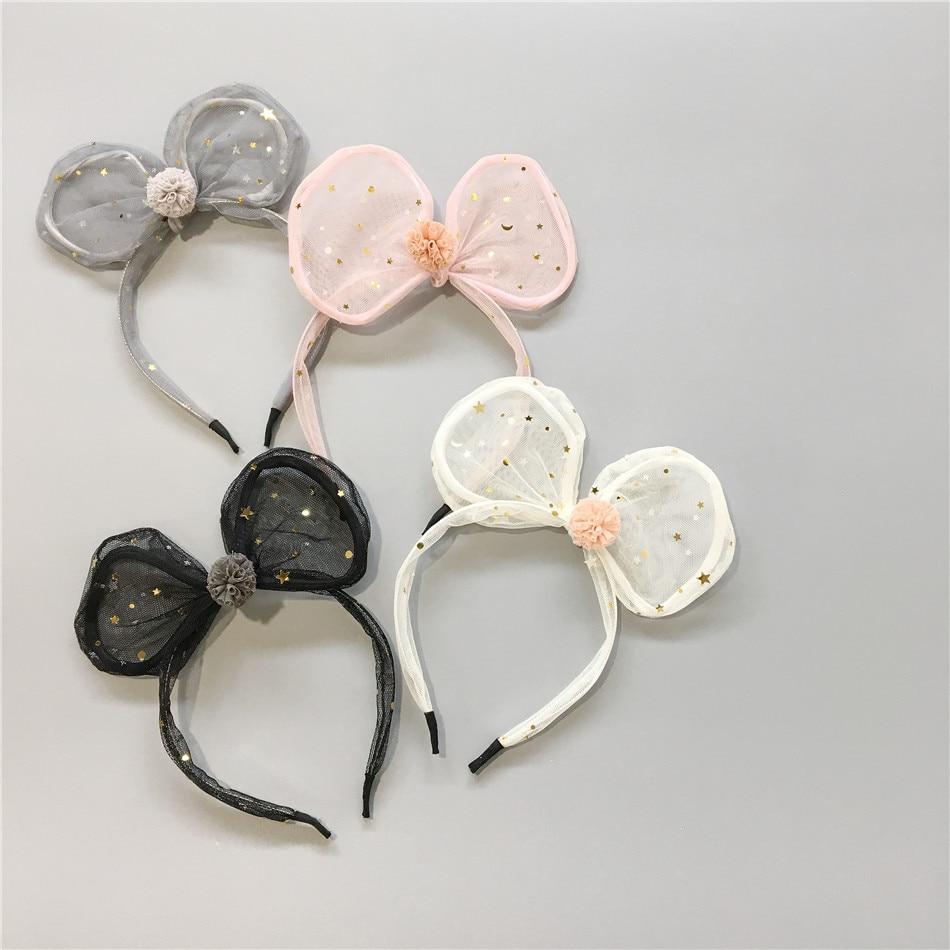 Korean Hair Ornaments Children's Mesh Bowl Hair Hoop Rabbit Ears Hair Band Headwear Girl Headwear