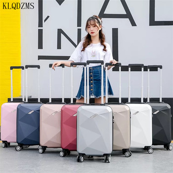 KLQDZMS 20/24inch Travel suitcase with wheels Brand Cabin hardside luggage zipper frame rolling luggage spinner me