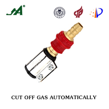 JA8001 Gas-Appliance Plug-in self-closing valve Dn 15 0.8 m3/h for LPG Restrictor Valves