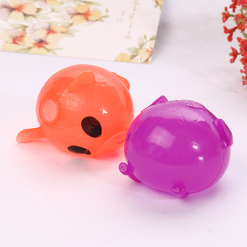 1 Pcs Relax Doll Adult Stress Venting Ball Sticky Smash Water Ball Anti stress Goods Pig Decompression Splat Ball Novelty Toys