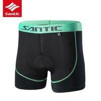 Santic Cycling Shorts Undershorts Comfortable Breathable Padded Cycling Underwear MTB Bicycle Bike Shorts Bermuda Ciclismo