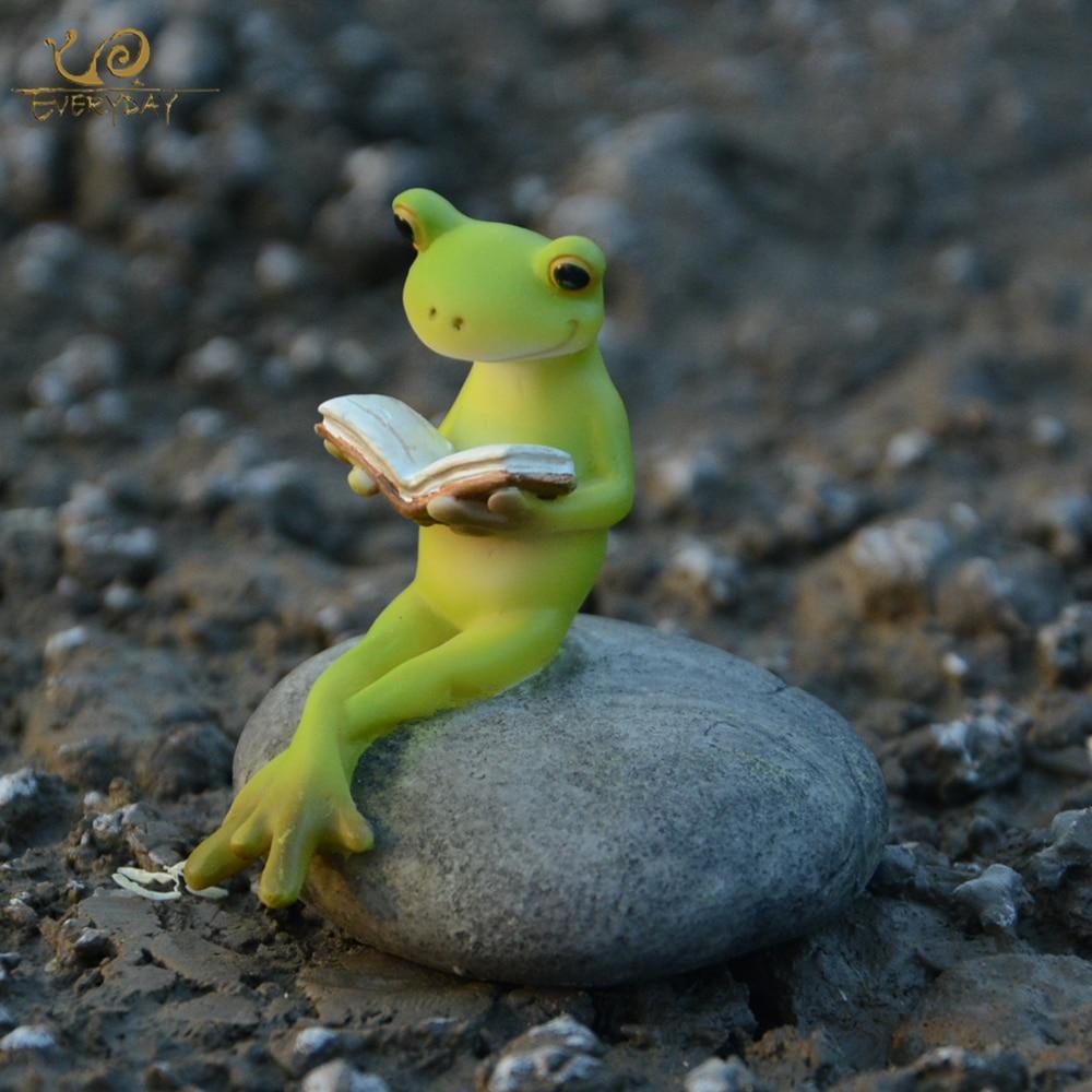 Collection quotidienne Animal grenouille fée jardin Figurines Miniature paysage décoration de la maison accessoires anniversaire cadeau Souvenirs