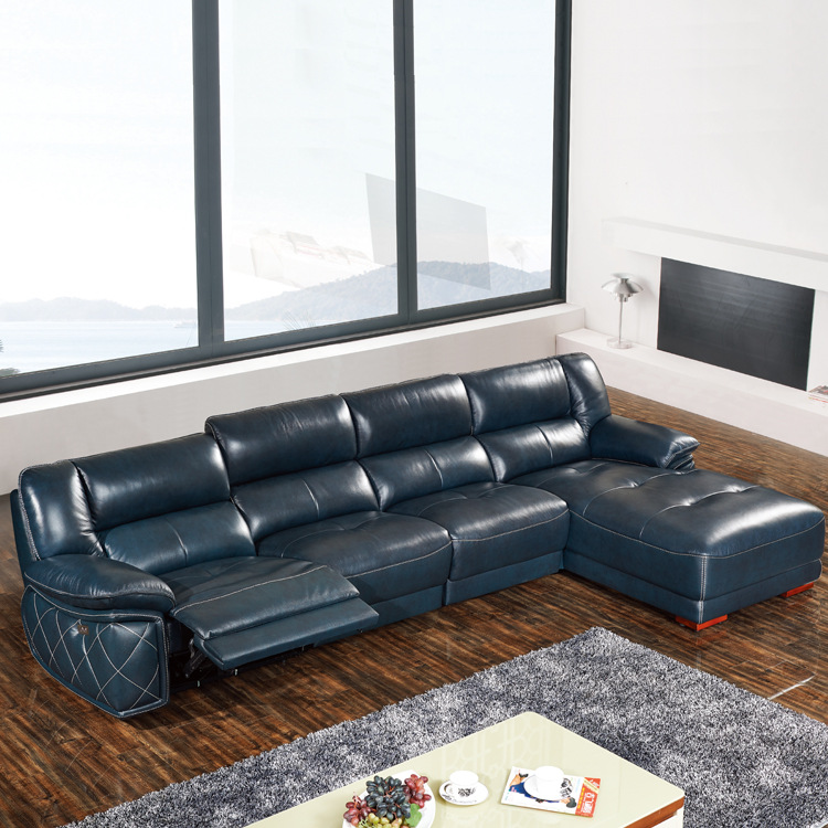 US $1139.05 5% OFF|Living Room Sofa set corner sofa L real genuine cow  leather sectional sofas recliner modern muebles de sala moveis para casa-in  ...