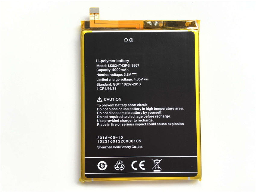 UMI SUPER Battery Li3834T43P6H8867 New High Quality 4000mAh Li-ion Replacement Battery for UMI SUPER Smartphone
