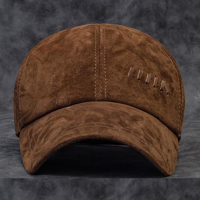 Atacado NOVA Alta qualidade Outono inverno chapéu masculino quente cabeça dos homens de boné de beisebol dos homens de couro genuíno cowskin esporte ao ar livre cap