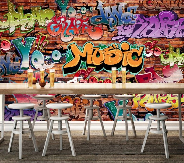 benutzerdefinierte 3d tapete mauer graffiti kultur hintergrund malerei. Black Bedroom Furniture Sets. Home Design Ideas