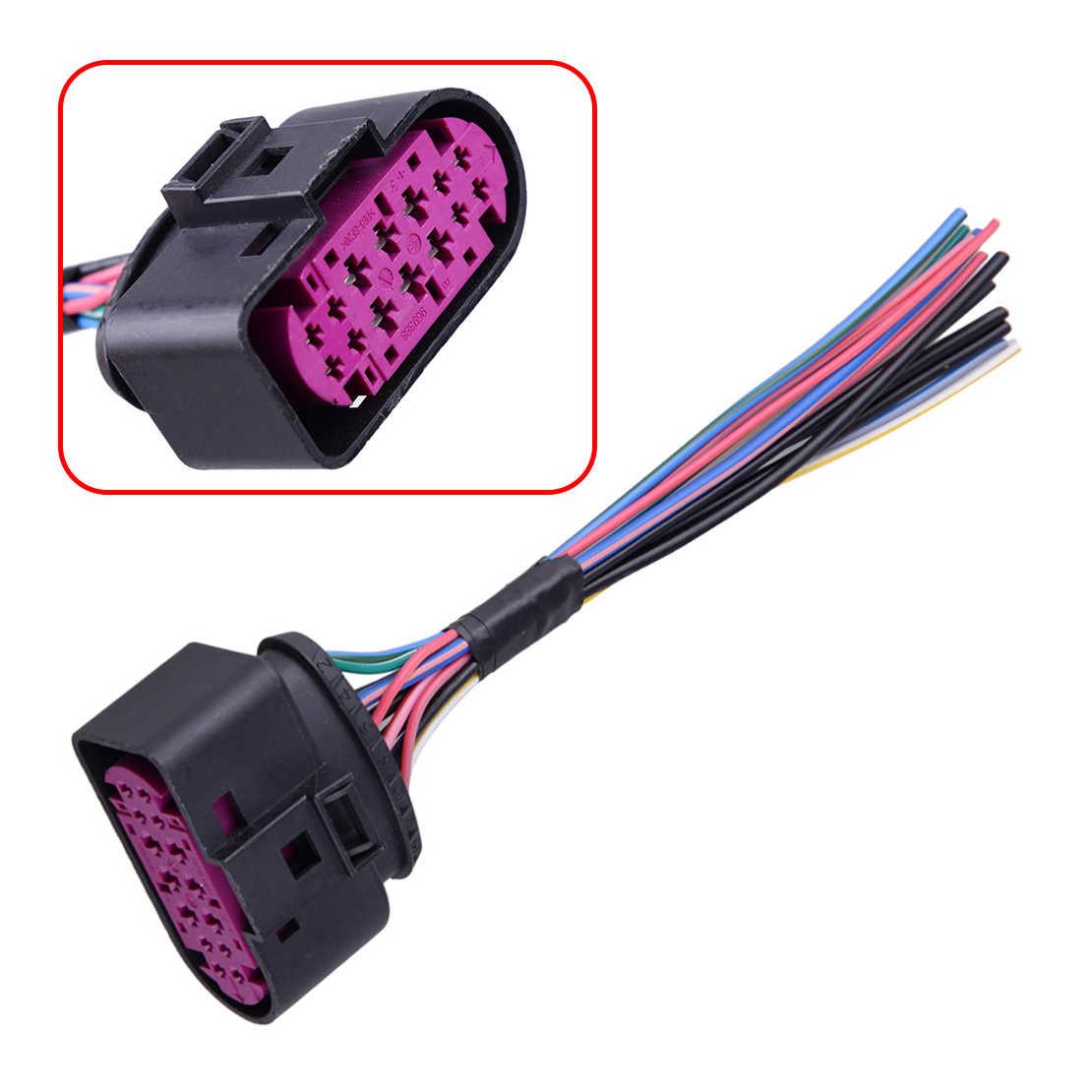 CITALL 1J0973737 14 Pim Siyah Plastik Xenon HID Far Fiş Pigtail Bağlayıcı Fit Audi Q5 Q7 TT A4 S4 a5 A6 A8 TTRS