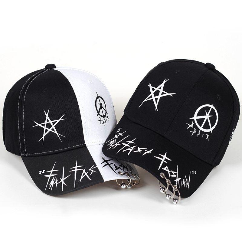 new Custom Graffiti Snapback   Baseball     Caps   Black and White Patchwork Men Women Hip Hop   Cap   Fashion Casual Hat Bone Garros