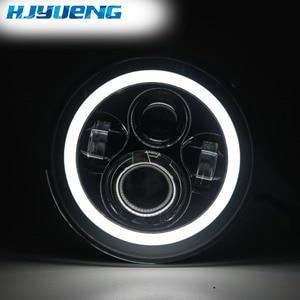 Image 2 - HJYUENG 7 インチ 22 用 Led オートバイツーリングヘッドライト 7 ヘイロー Led ヘッドライト角目