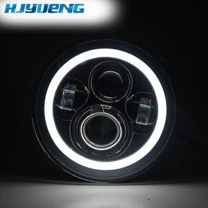Image 2 - HJYUENG 7 بوصة LED ل 22 النارية بجولة رئيس ضوء 7 هالو LED العلوي مع زاوية العين